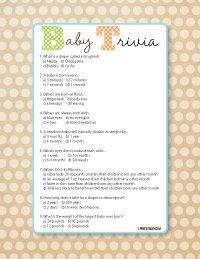baby shower trivia game