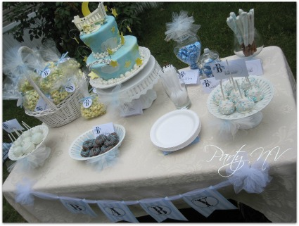 picture of a baby shower cake for a boy