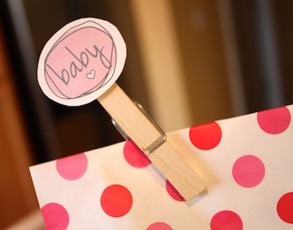 picture of free baby shower favor tags and clipart