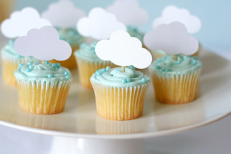 picture of a cloud and rain baby shower