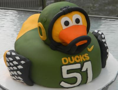 Oregon Ducks Baby Shower Cake Picture