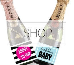 picture of baby shower favor tags