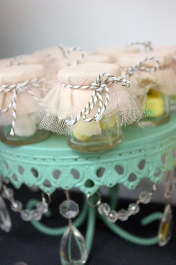 peach baby shower favors picture