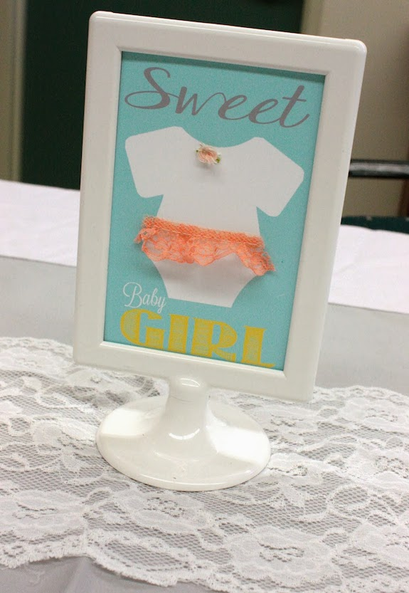 picture of peach baby shower signs