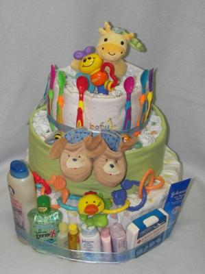 baby shower diaper cake game banner