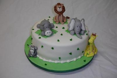 Baby Animals Baby Shower Cake