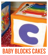 baby blocks cakes banner
