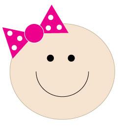 image of girl baby shower clip art