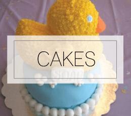 Modern baby shower cakes