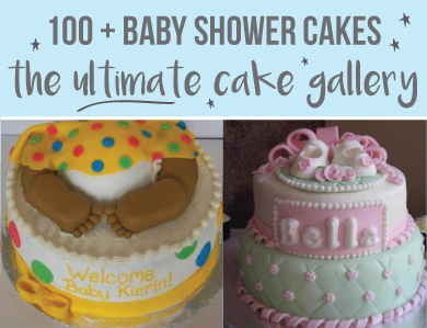 Banner of the ultimate baby shower cake gallery