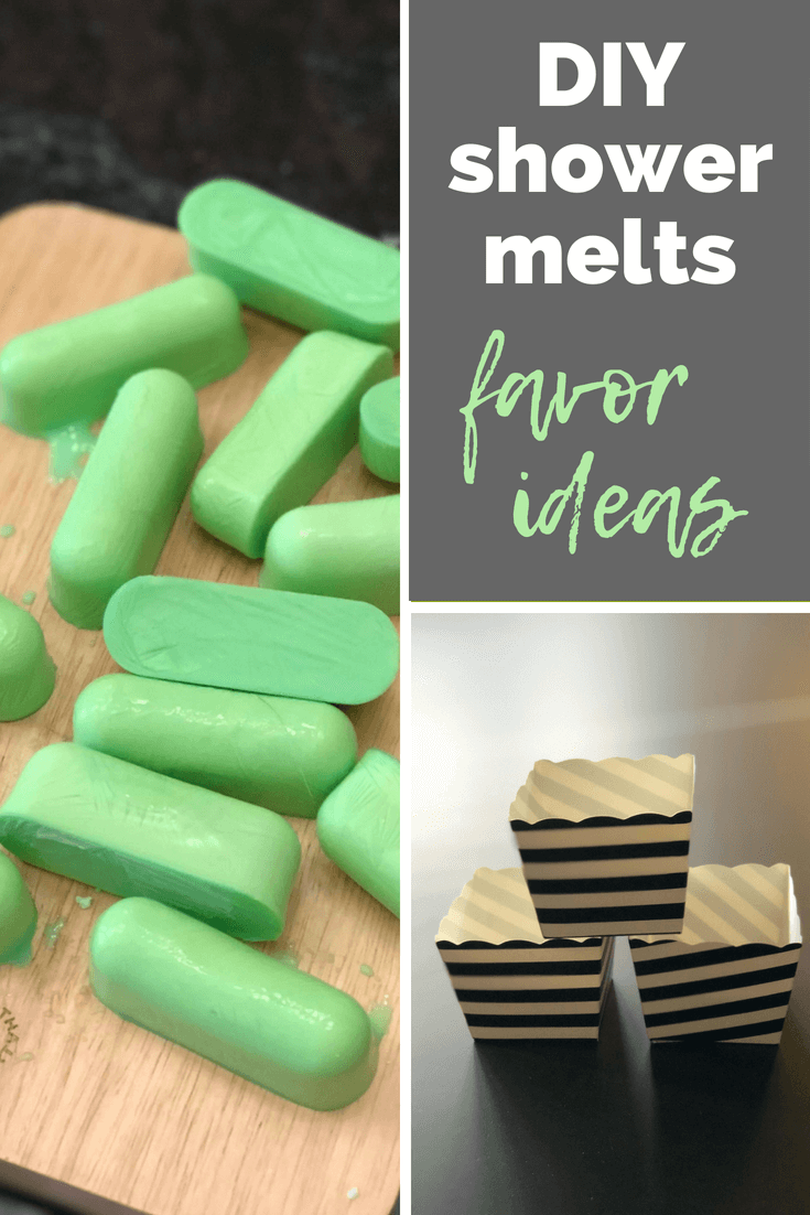Shower melts favors for a baby shower