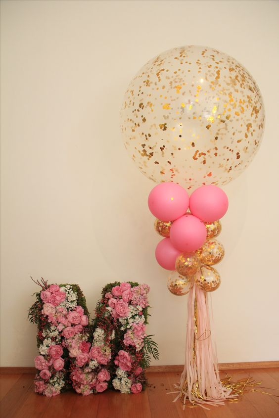 image of DIY balloons for a baby shower