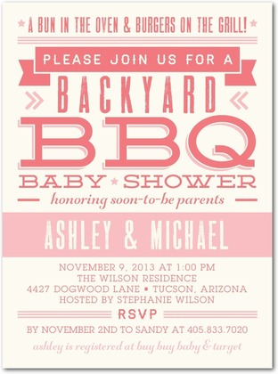 Couples Co Ed Baby Shower Invitations