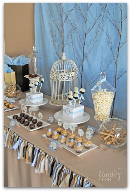 bird baby shower theme ideas banner