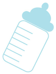 image of blue baby bottle clipart