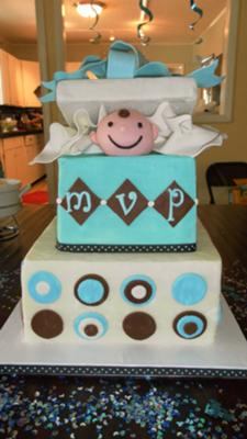 picture of boy baby shower cake
