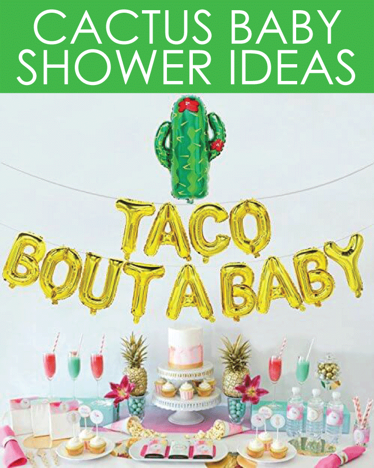 cactus baby shower ideas banner