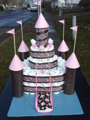 Castle of love Diaper Cake
