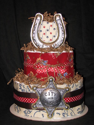 picture of cowboy diaper cake ideas