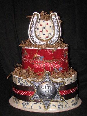 cowboy diaper cake picture