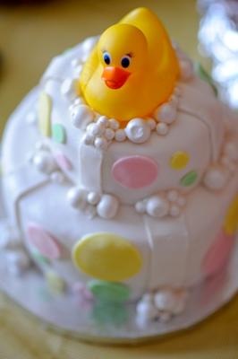 The Sweetest Duck Bubbles Cake Picture