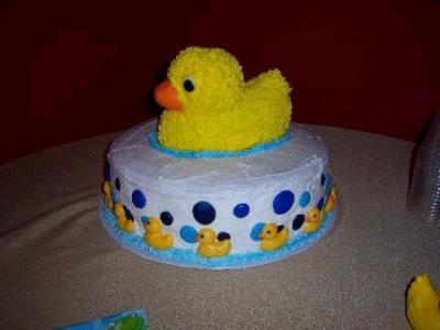 adorable picture of a Duck Baby Shower Cake