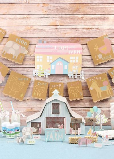 picture of farm baby shower decorations