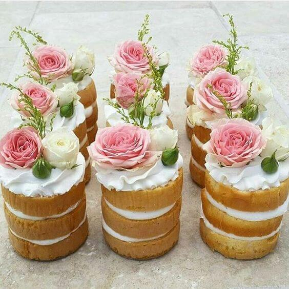 image of mini baby shower cakes