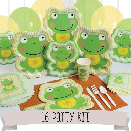 picture of frog baby shower invitations and supplies