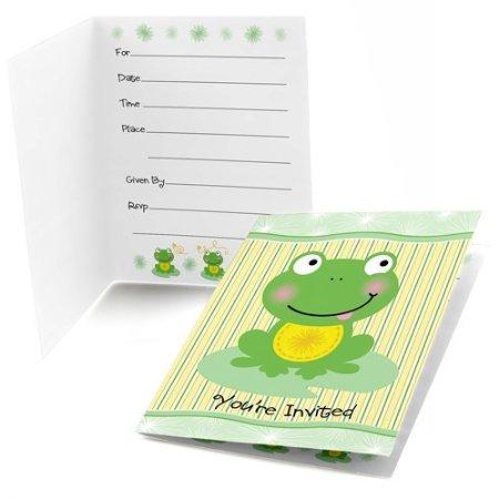 Frog baby shower invitations banner