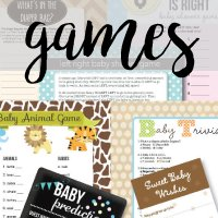 banner for unique baby shower games
