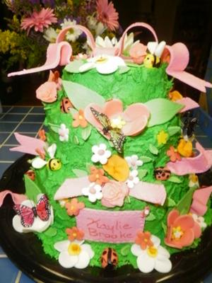 picture of garden baby shower cake