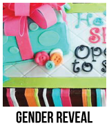 gender reveal baby shower cakes banner