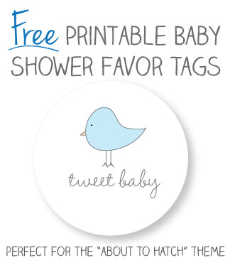 Free baby bird baby shower favor tags that you can print from home!