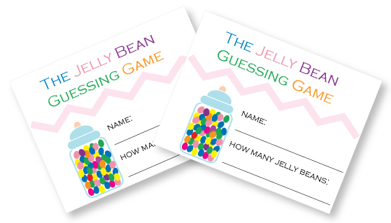 printable baby shower jelly bean guessing game