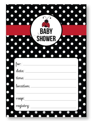 Free Printable Ladybug Baby Shower Invitations Banner