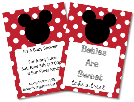 Free Printable Mickey Mouse Baby Shower Invitations Template