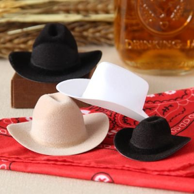 picture of mini cowboy hats for a party