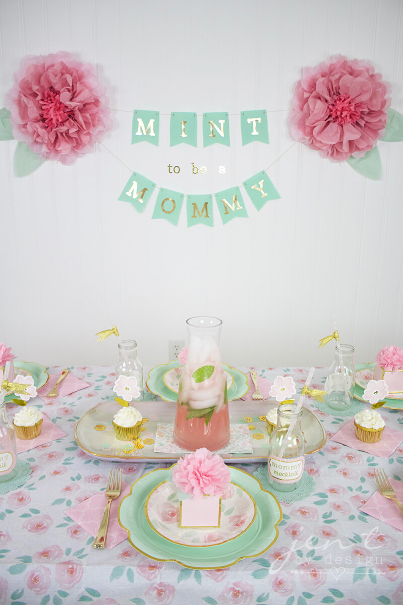 mint to be a mommy baby shower