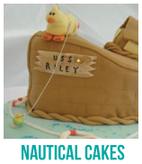nautical baby shower cakes banner