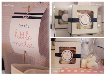picture of nautical baby shower favors and decor