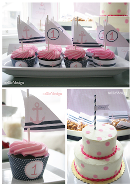 picture of nautical baby shower cakes