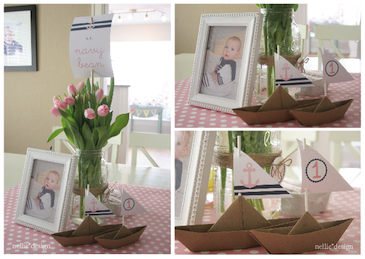 picture of cute nautical baby shower decor