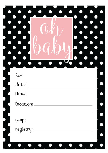 Polka Dot Baby Shower Invitation Template picture