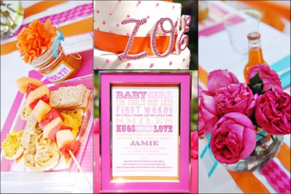 picture of pink and orange party decor