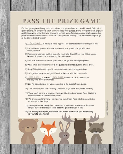 Pass The Prize Baby Shower Game Idea (also called Pass The Centerpiece Game)