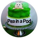 banner for pea in a pod baby shower cakes