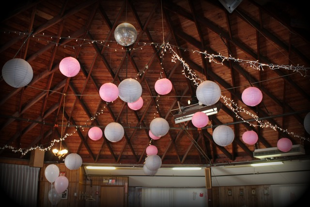 image of hanging paper lanterns for a baby shower