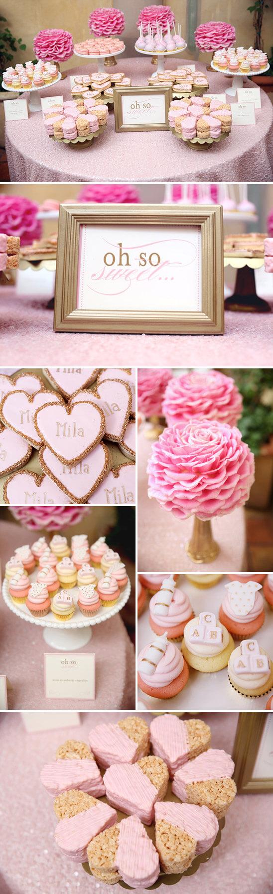 Pink heart baby shower ideas!