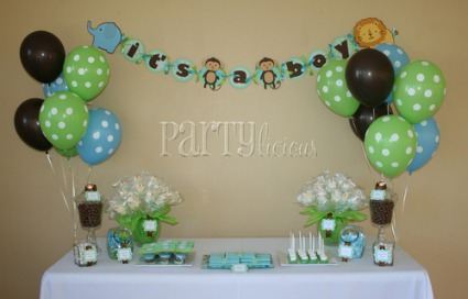 jungle baby shower banner
